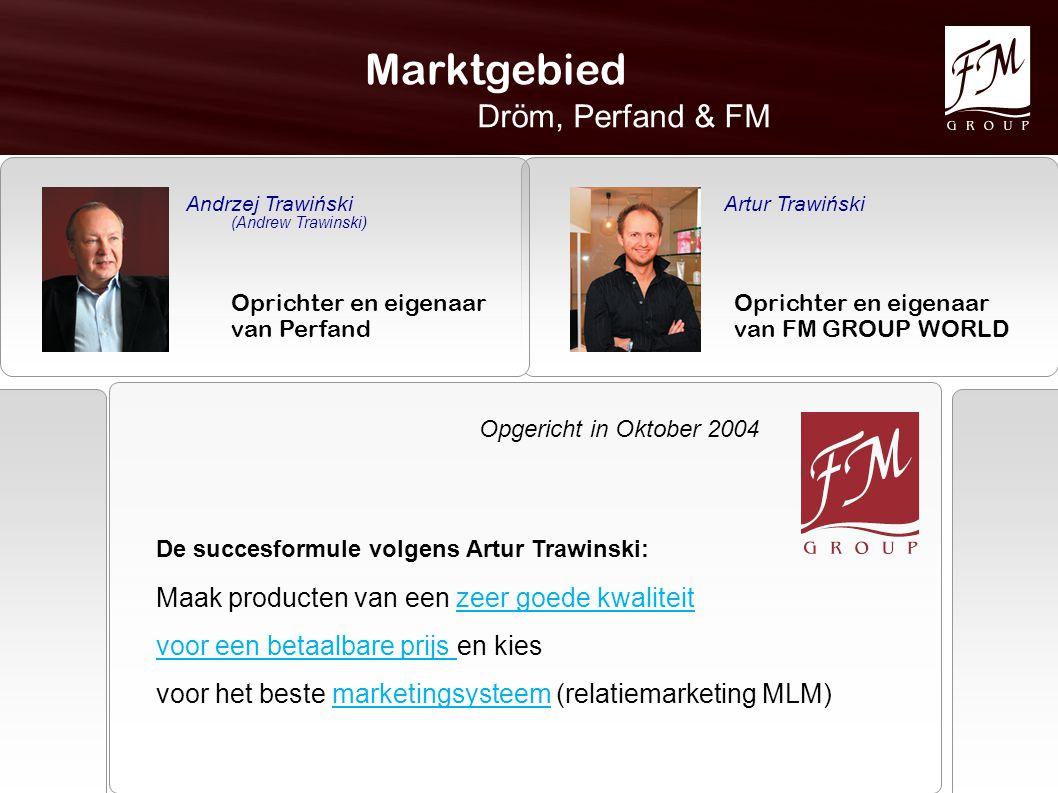 Marktgebied Dröm, Perfand & FM Andrzej Trawiński (Andrew Trawinski) Oprichter en eigenaar van Perfand Artur Trawiński Oprichter en eigenaar van FM GRO