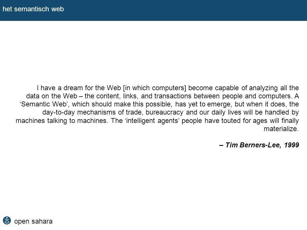 open sahara het semantisch web hoe brengen we het samen.