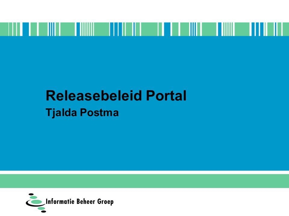 Releasebeleid Portal Tjalda Postma