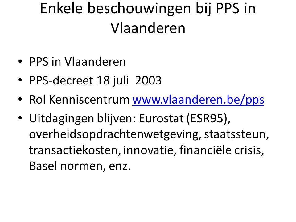 Soorten PPS • Gebiedsgebonden – Stadsvernieuwing, ontwikkeling, brownfields • Maatwerk/standaardisering.