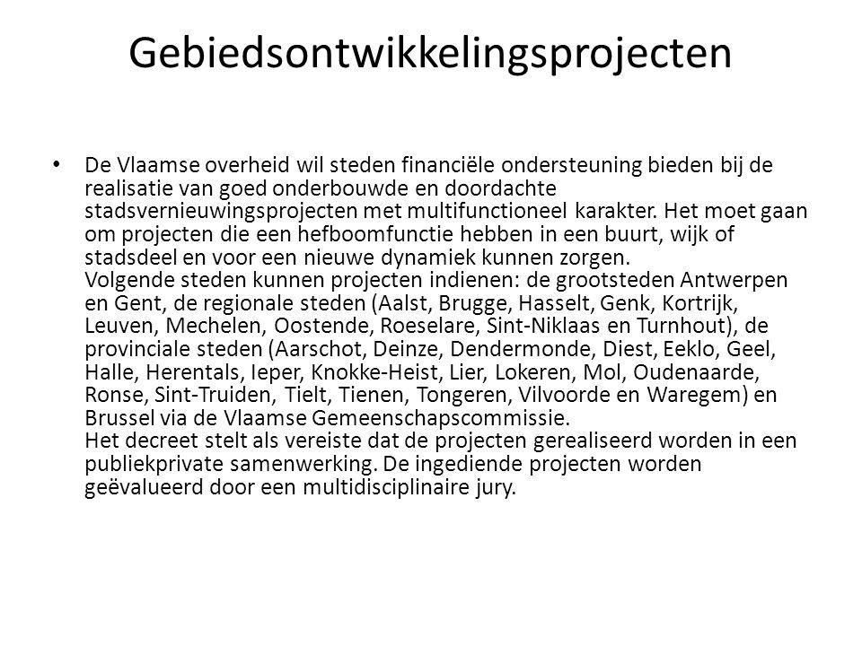Gebiedsontwikkelingsprojecten • ART.6. Besluit§ 1.