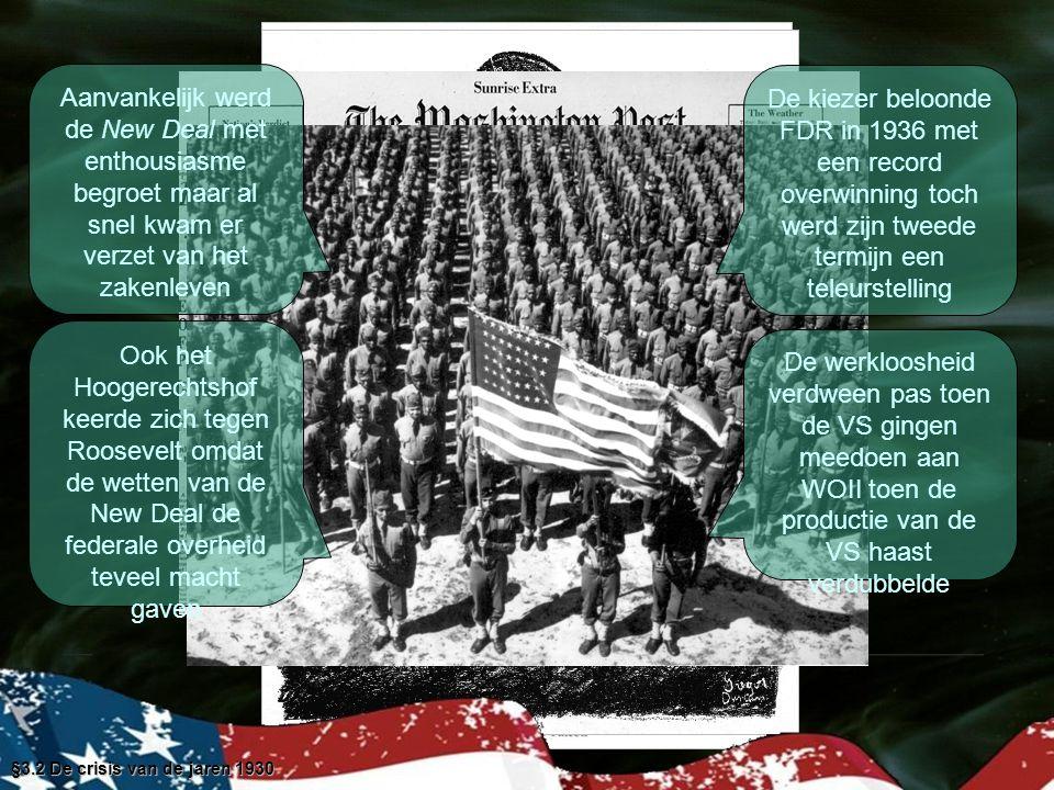 §3.2 De crisis van de jaren 1930 Huiswerk   L.3.1 & 3.2   Lezen 3.3 & 3.3   M.