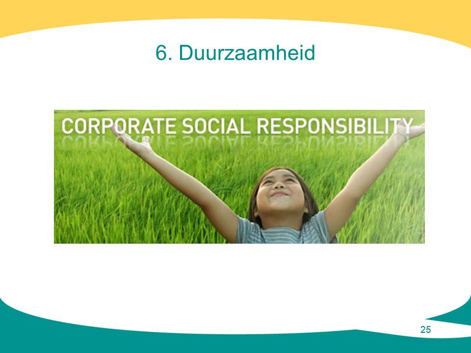 25 6. Duurzaamheid
