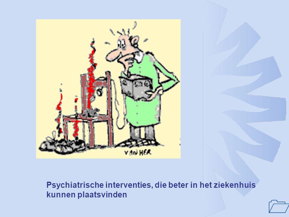 1 Randvoorwaarde voor verbetering van kwaliteit en beschikbaarheid van ziekenhuispsychiatrie: Ziekenhuispsychiatrie heeft positie in het ziekenhuis die gelijkwaardig is aan die van de niet- psychiatrische medische specialismen