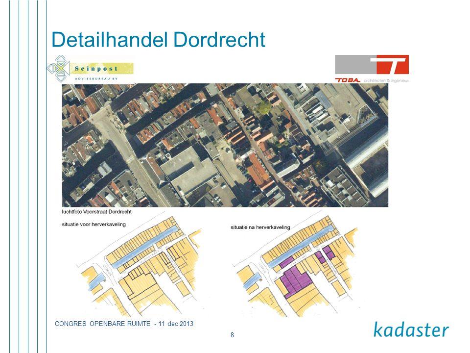 CONGRES OPENBARE RUIMTE - 11 dec 2013 8 Detailhandel Dordrecht