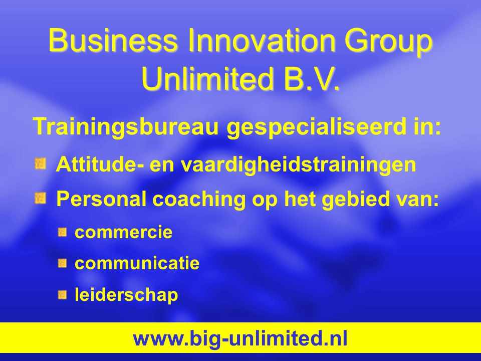 Business Innovation Group Unlimited B.V.