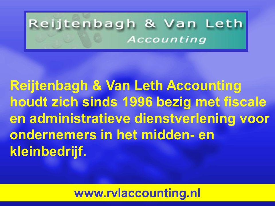Reijtenbagh & Van Leth Accounting houdt zich sinds 1996 bezig met fiscale en administratieve dienstverlening voor ondernemers in het midden- en kleinb