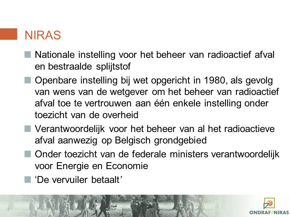 Het Afvalplan van NIRAS om tot een beleid voor het langetermijnbeheer van hoogactief en/of langlevend radioactief afval te komen J.-P. Minon, directeu