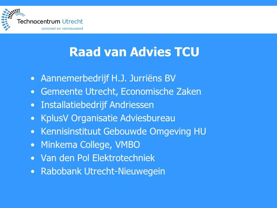 Raad van Advies TCU •Aannemerbedrijf H.J.