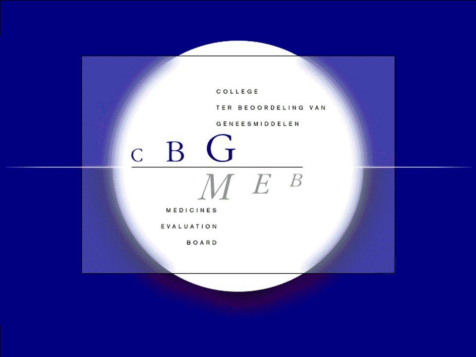 © CBG-MEB e-dossiers •NeeS –Europees geharmoniseerd, PDF –CBG Website: http://cbg-meb.nl/CBG/nl/people/ registratiezaken/dossier/default.htm –eSubmission website (under construction) http://esubmission.emea.europa.eu/ –Geen LCM