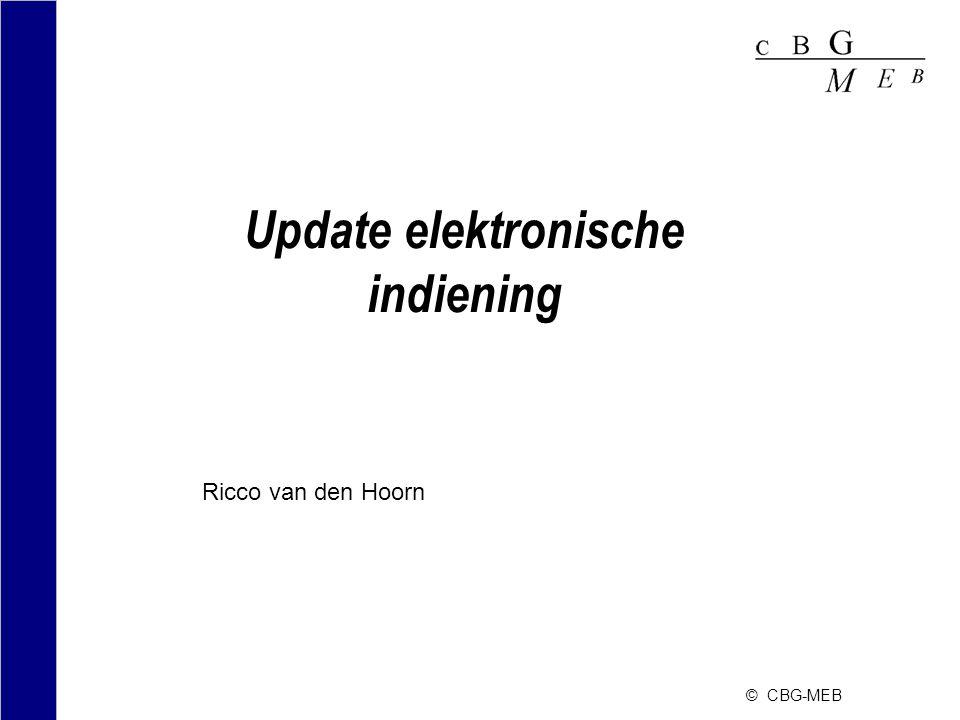 © CBG-MEB Guideline for veterinary e-submissions (2) •Acceptatie in Nederland •e-Dossier (nog) niet verplicht, wel voorkeur.