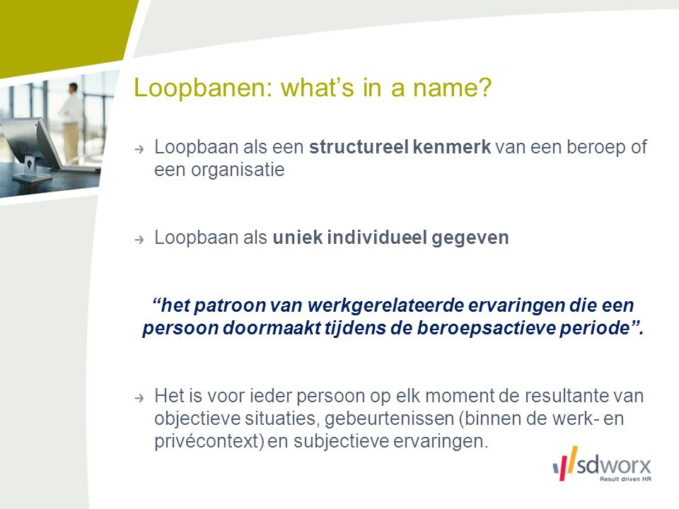Loopbanen: what's in a name.