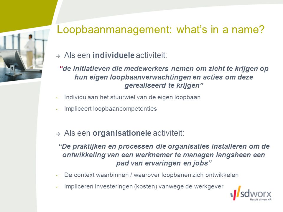 Loopbaanmanagement: what's in a name.