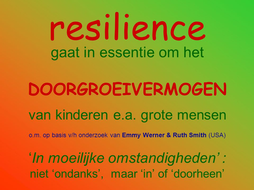 Resilience !.