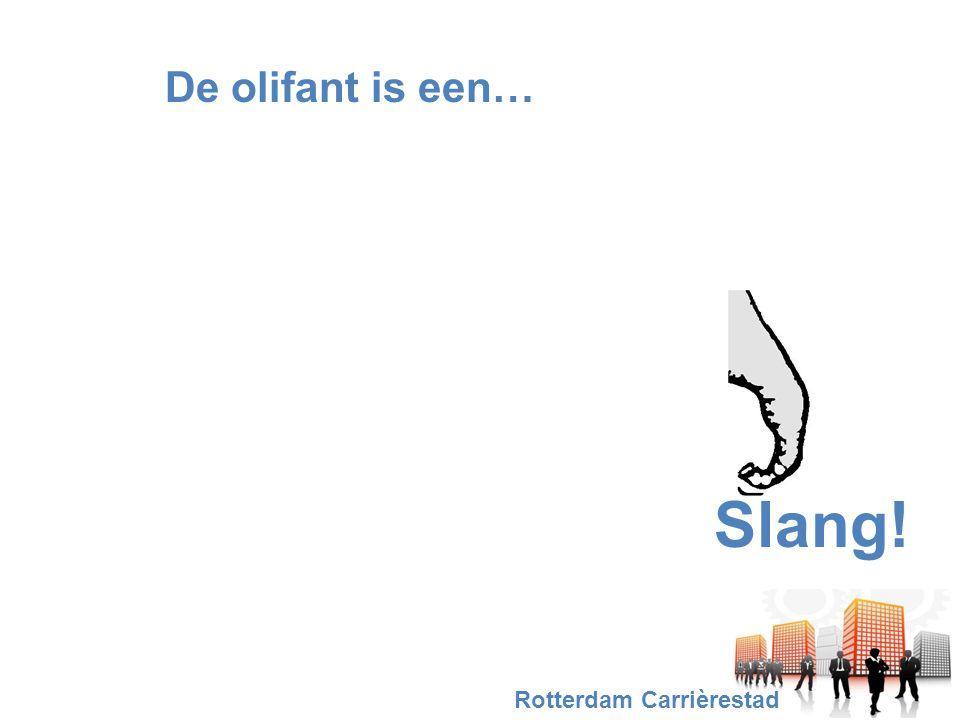 De olifant is een… Slang! Rotterdam Carrièrestad