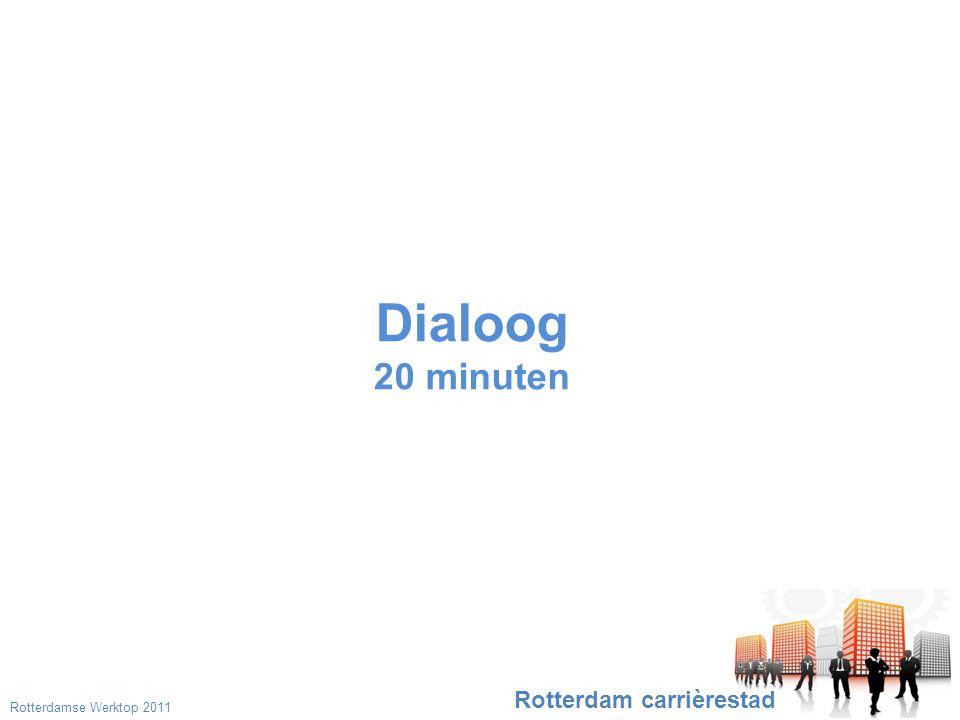Dialoog 20 minuten Rotterdam carrièrestad Rotterdamse Werktop 2011