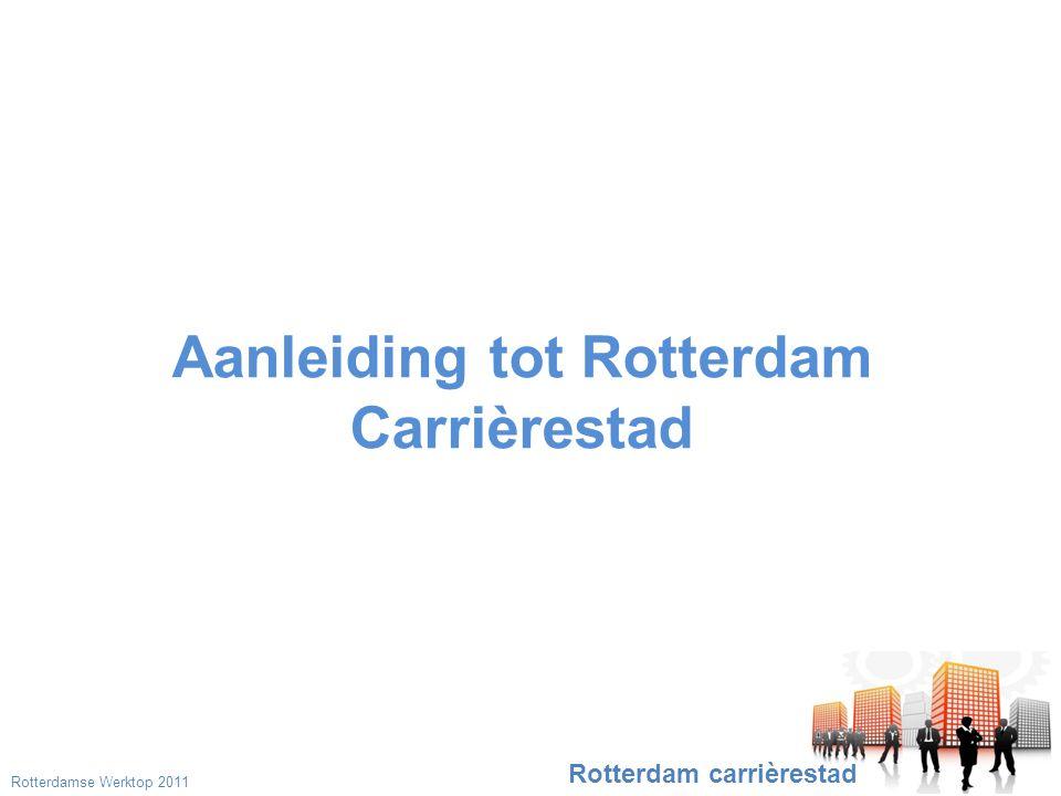 Aanleiding tot Rotterdam Carrièrestad Rotterdam carrièrestad Rotterdamse Werktop 2011