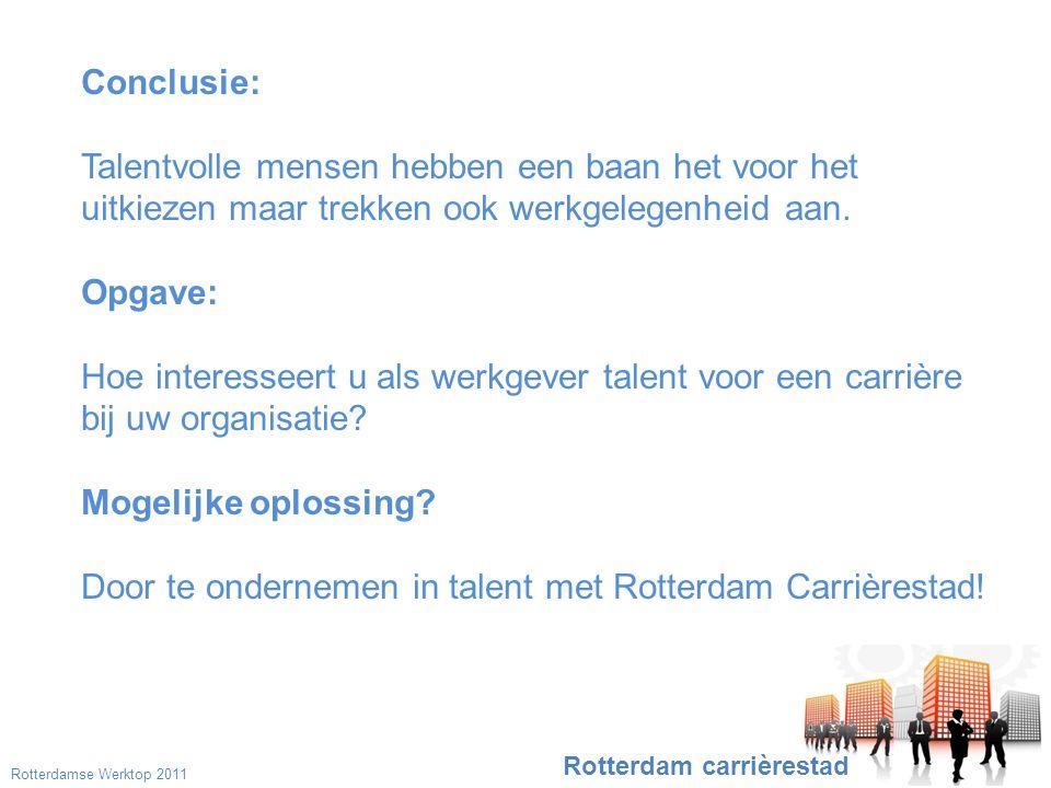 Conclusie: Talentvolle mensen hebben een baan het voor het uitkiezen maar trekken ook werkgelegenheid aan.