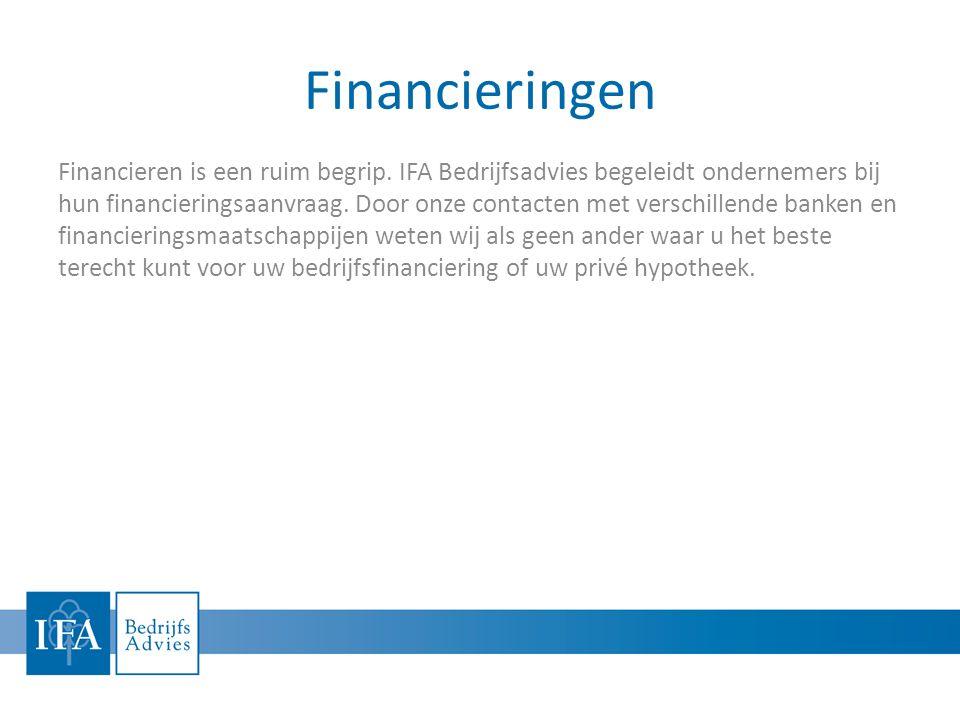 Financieringen Financieren is een ruim begrip.
