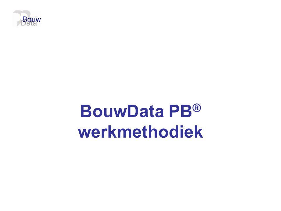 BouwData PB ® werkmethodiek
