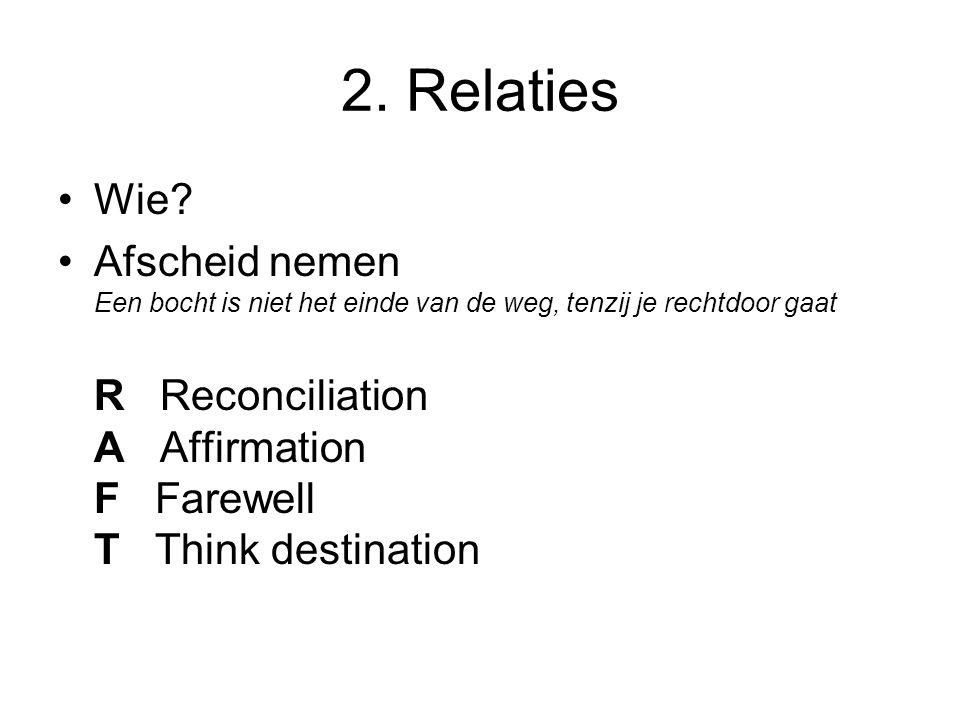 2. Relaties •Wie.