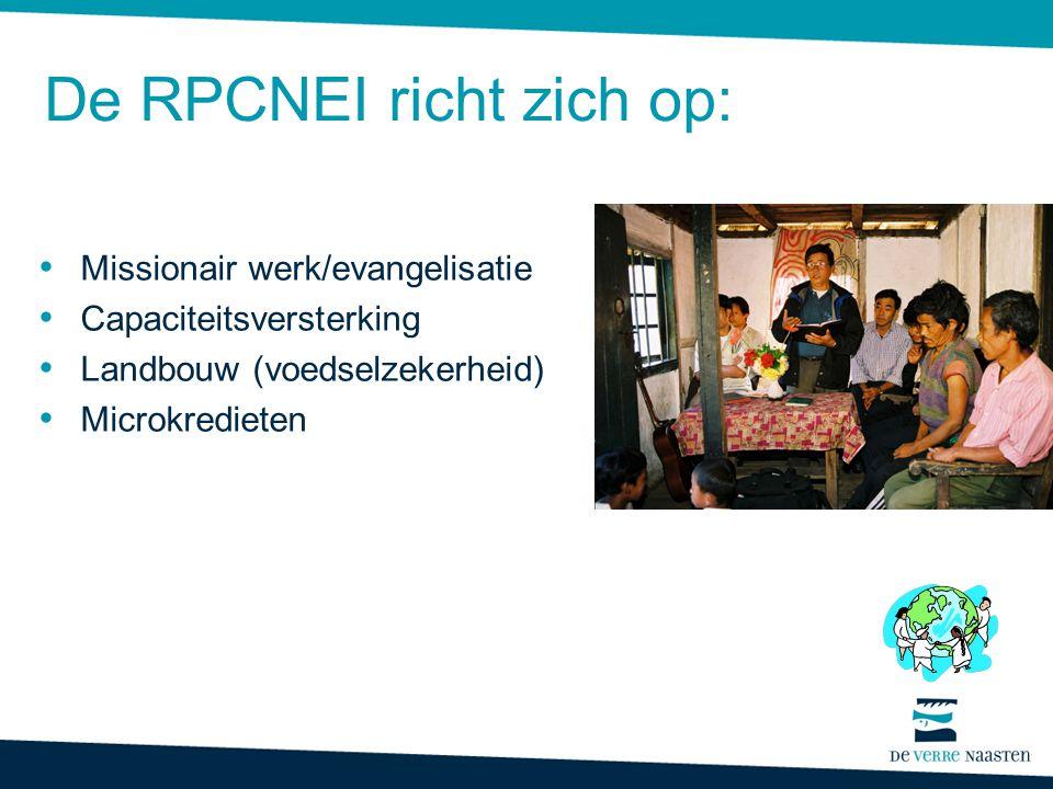 Doel van het missionaire werk RPCNEI: 1.Capaciteitsversterking: zendingsopleidingen, seminairs 2.