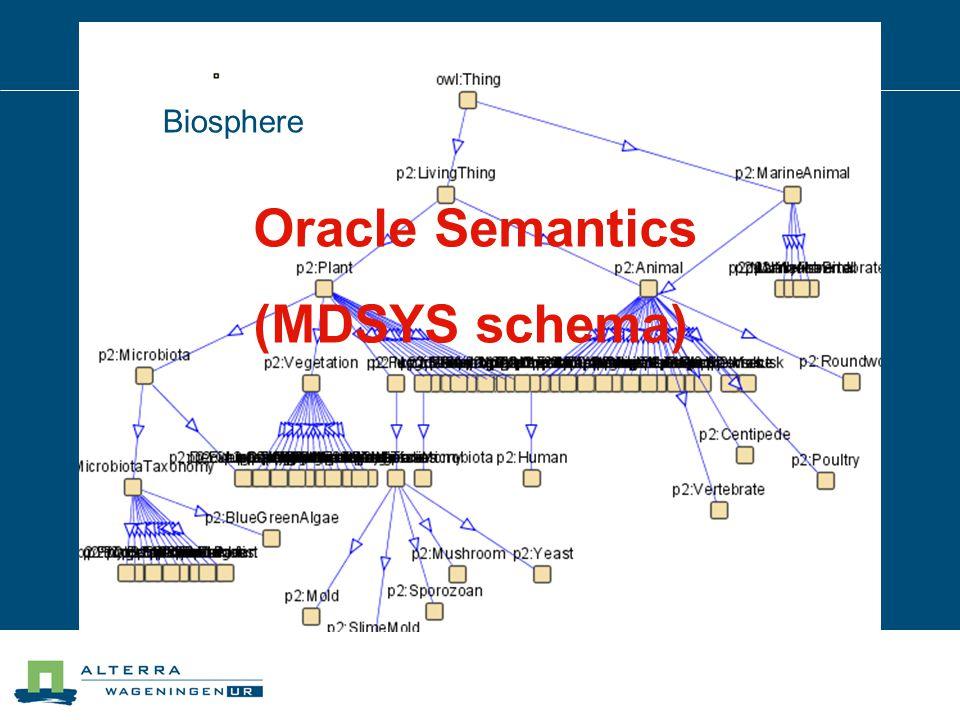 Biosphere Oracle Semantics (MDSYS schema)
