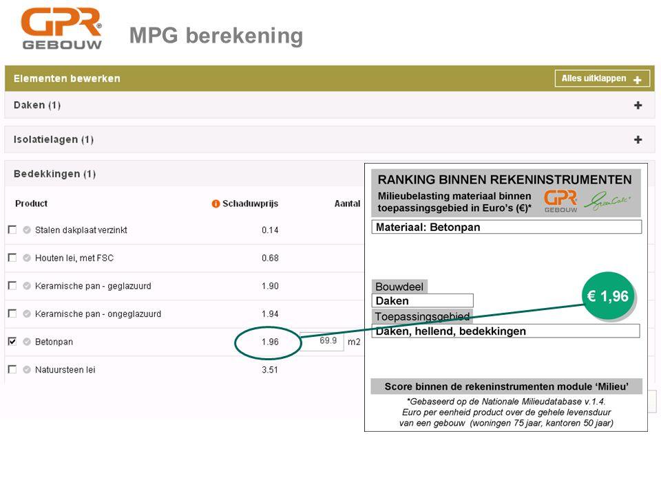 MPG berekening