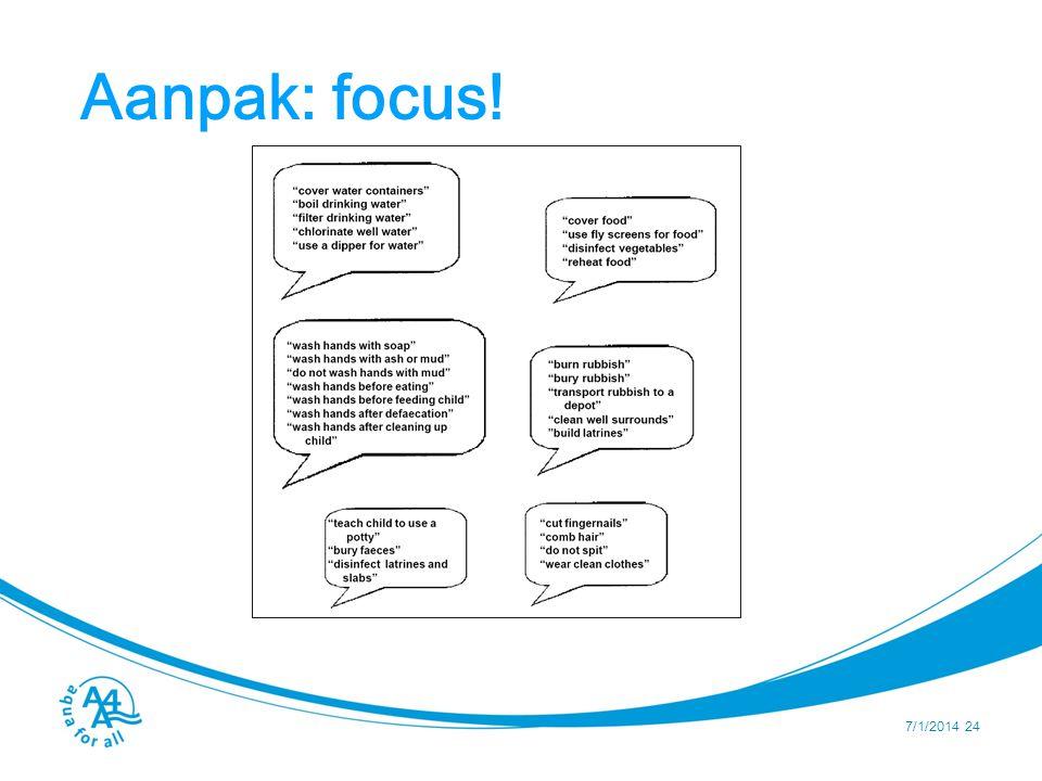Aanpak: focus! Hlk262754539 7/1/2014 24
