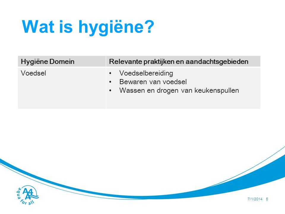 7/1/2014 6 Wat is hygiёne.