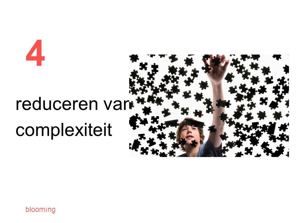 bloomıng 4 reduceren van complexiteit