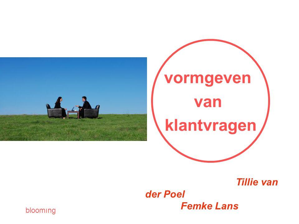 vormgeven van klantvragen Tillie van der Poel Femke Lans
