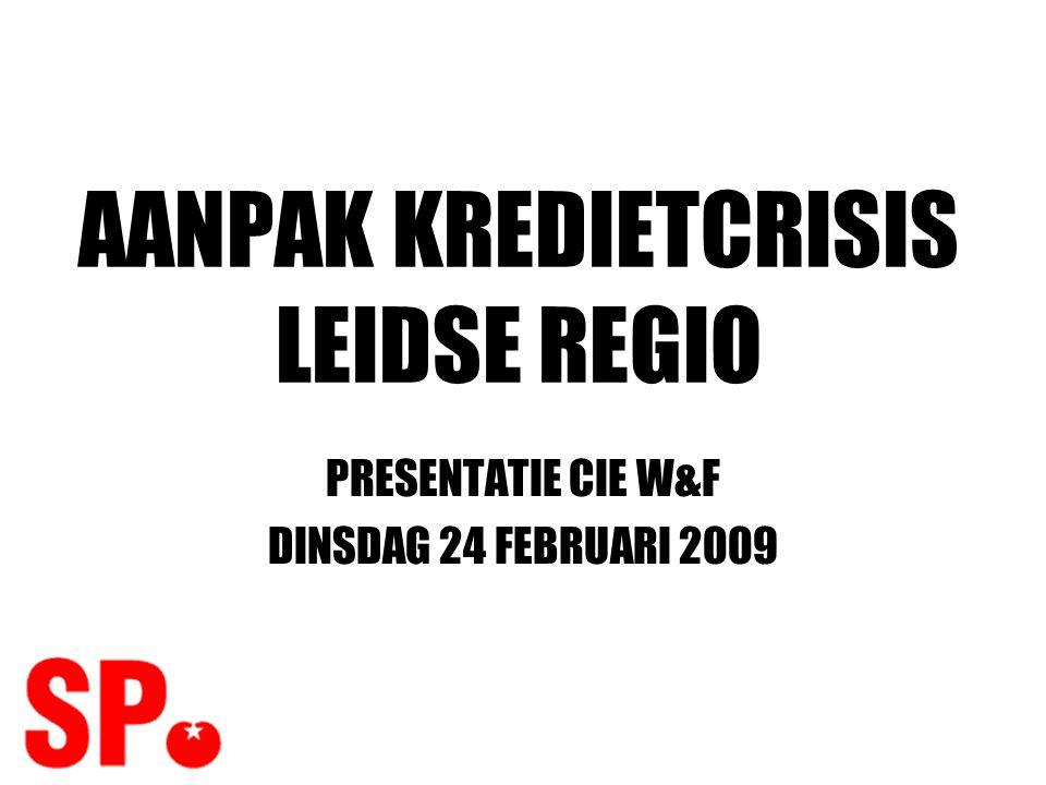 INTRODUCTIE •SP Leiden onderzoekt crisis: –Gevolgen –Mogelijke aanpak •Onderzoek nog niet klaar •Nu: Voorlopige resultaten bespreken met politieke partners