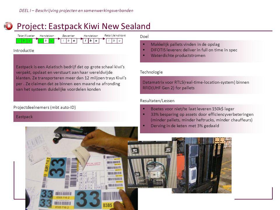 Eastpack is een Aziatisch bedrijf dat op grote schaal kiwi's verpakt, opslaat en verstuurt aan haar wereldwijde klanten. Ze transporteren meer dan 12