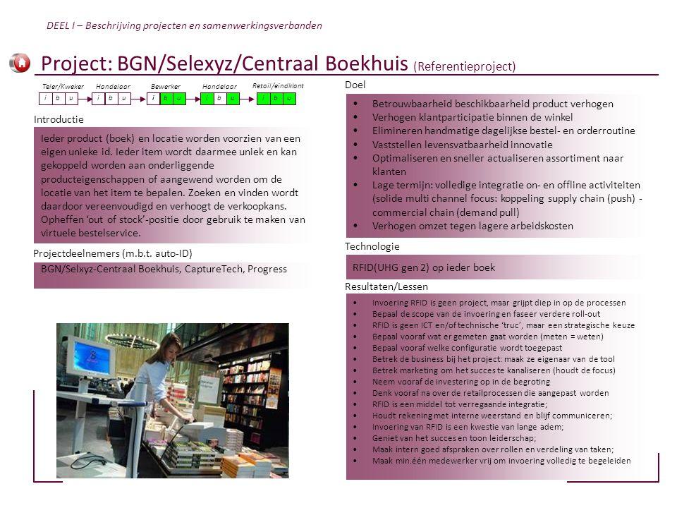 Ieder product (boek) en locatie worden voorzien van een eigen unieke id. Ieder item wordt daarmee uniek en kan gekoppeld worden aan onderliggende prod