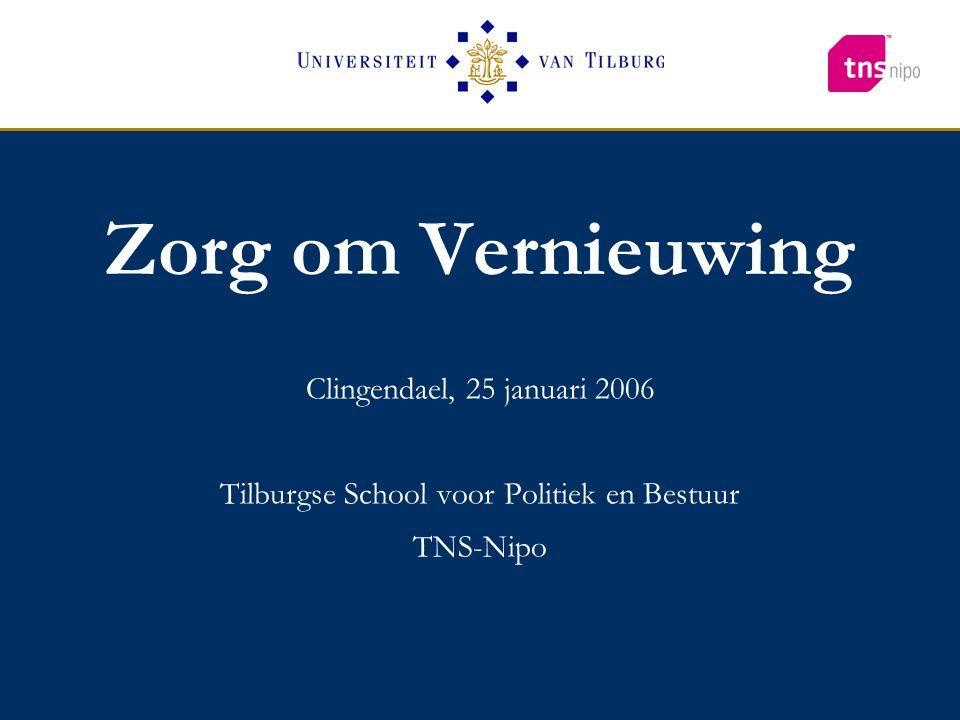 Clingendael, 25 januari 2006 Tilburgse School voor Politiek en Bestuur TNS-Nipo Zorg om Vernieuwing