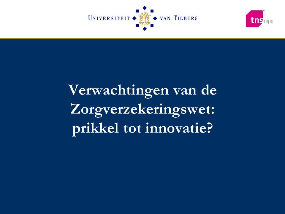 Verwachtingen van de Zorgverzekeringswet: prikkel tot innovatie?