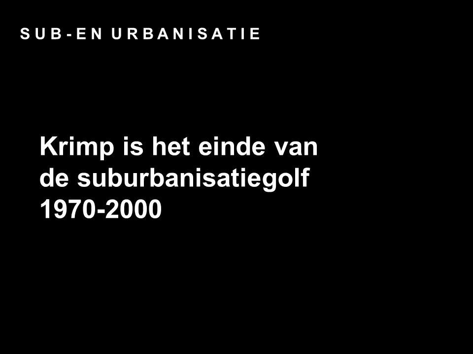 Opzet S U B - E N U R B A N I S A T I E Krimp is het einde van de suburbanisatiegolf 1970-2000