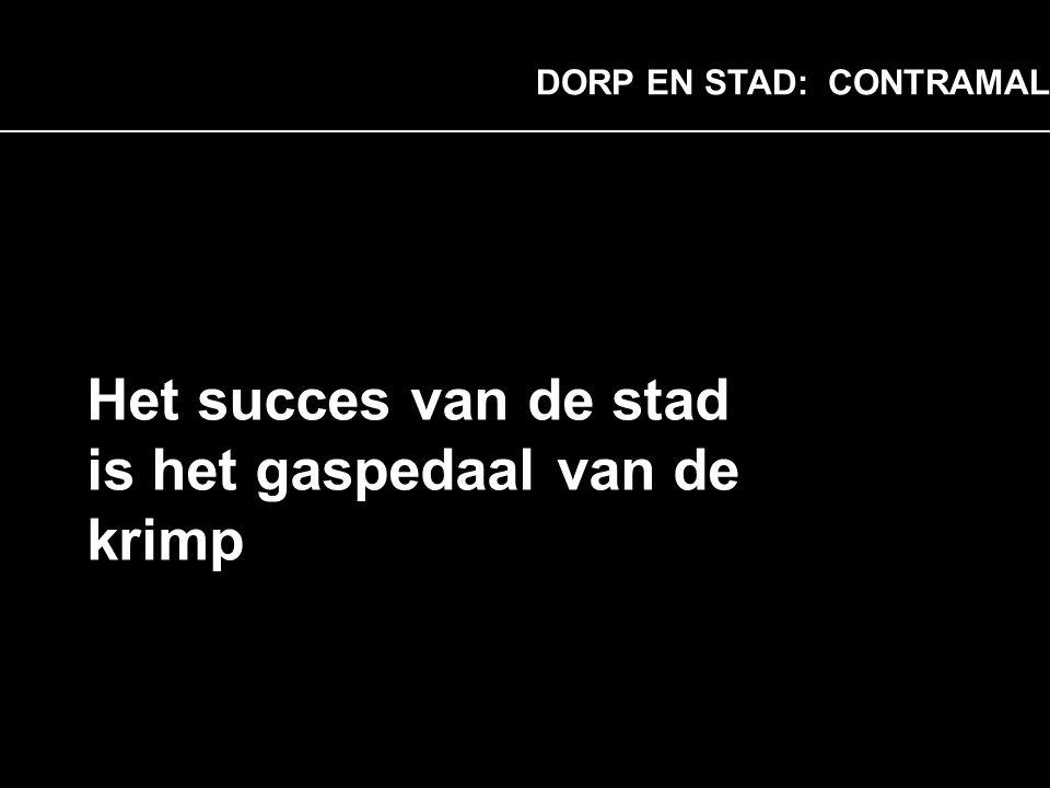 Opzet DORP EN STAD: CONTRAMAL Het succes van de stad is het gaspedaal van de krimp