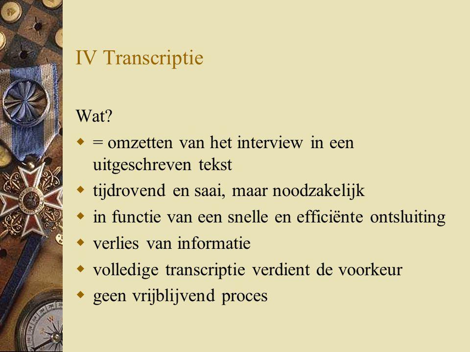 IV Transcriptie Wat.