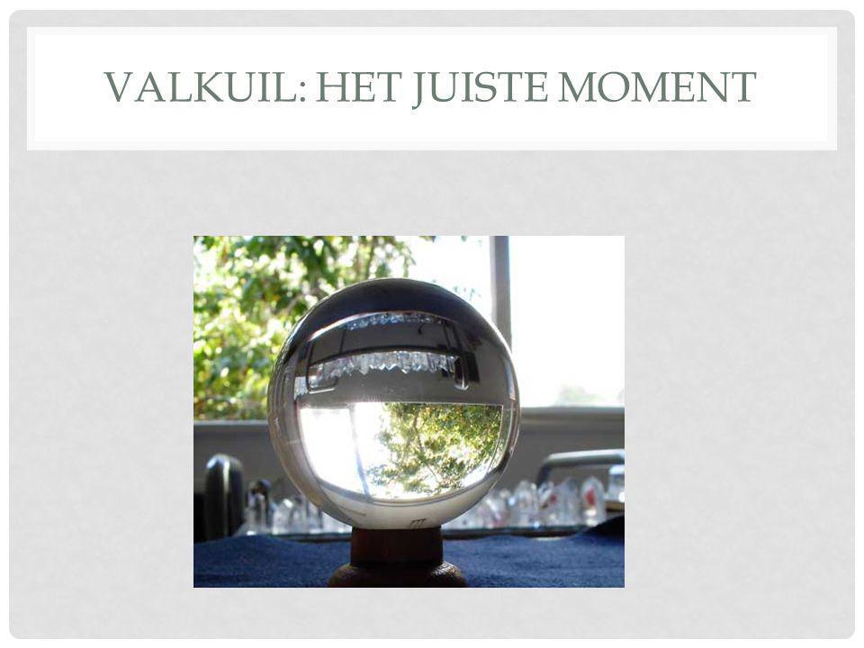 VALKUIL: HET JUISTE MOMENT