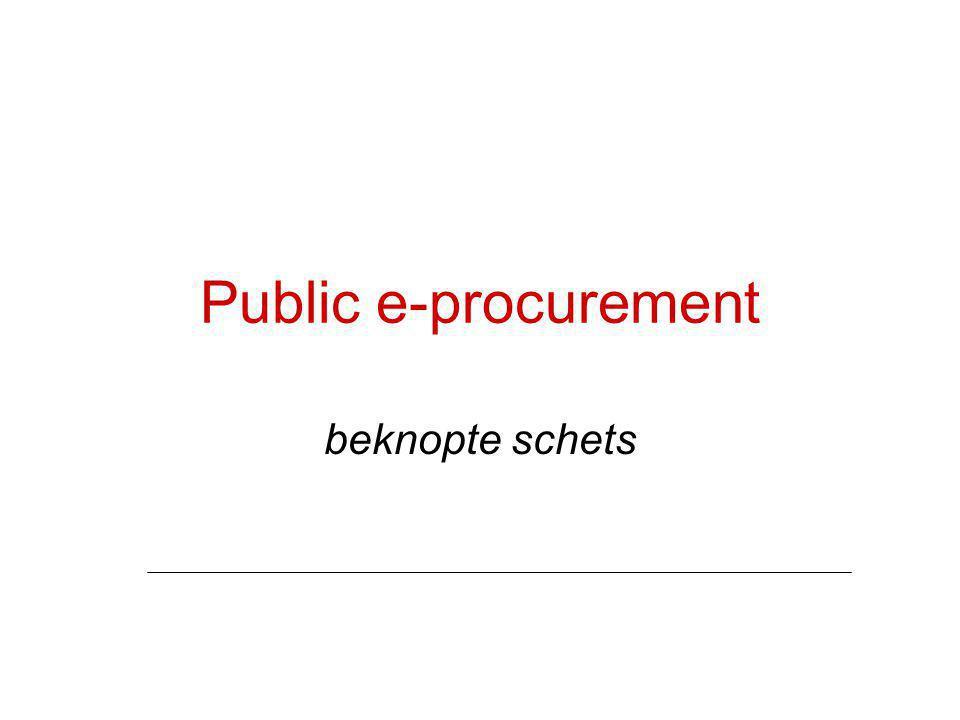 Public e-procurement beknopte schets