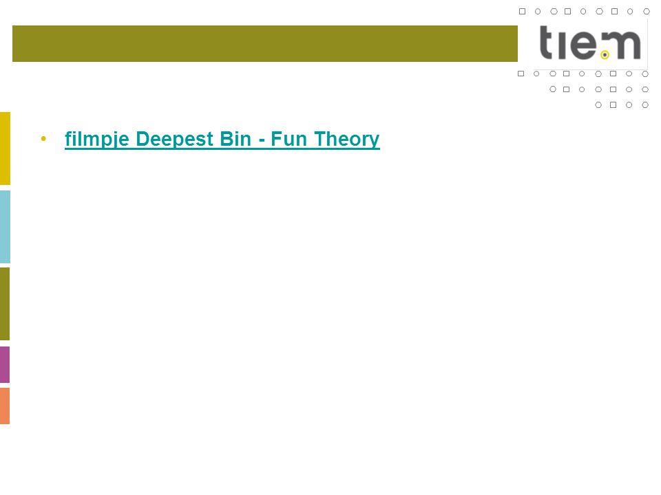 •filmpje Deepest Bin - Fun Theoryfilmpje Deepest Bin - Fun Theory