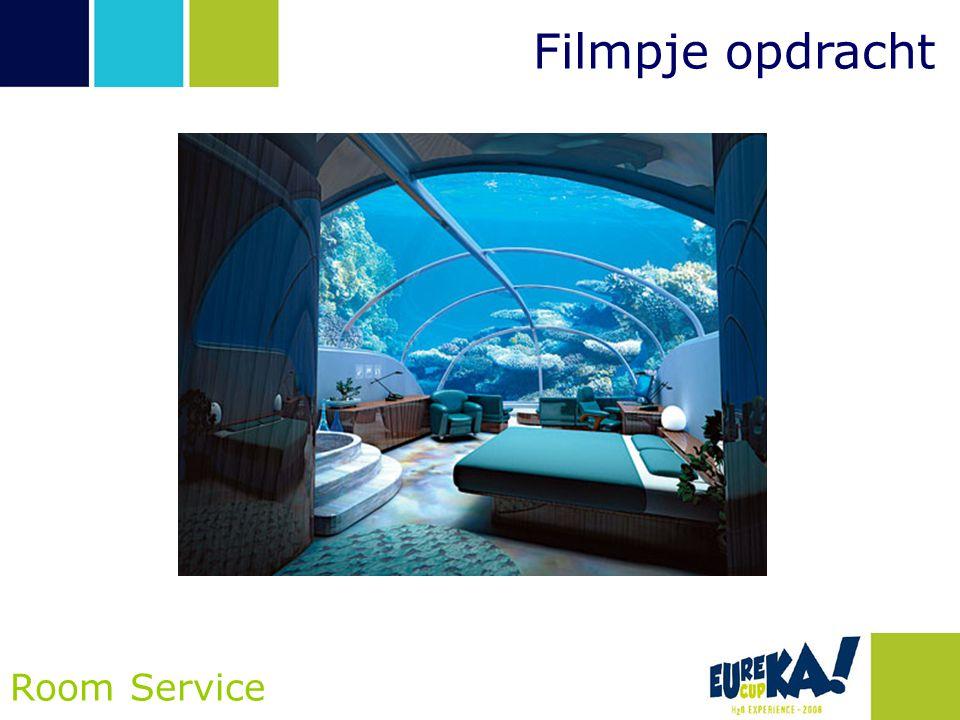 Opdracht Room Service •Ontwerp een vaartuig dat in staat is om drijvende objecten op veilige en efficiënte wijze in twee hotelkamers te krijgen •Wees innovatief!