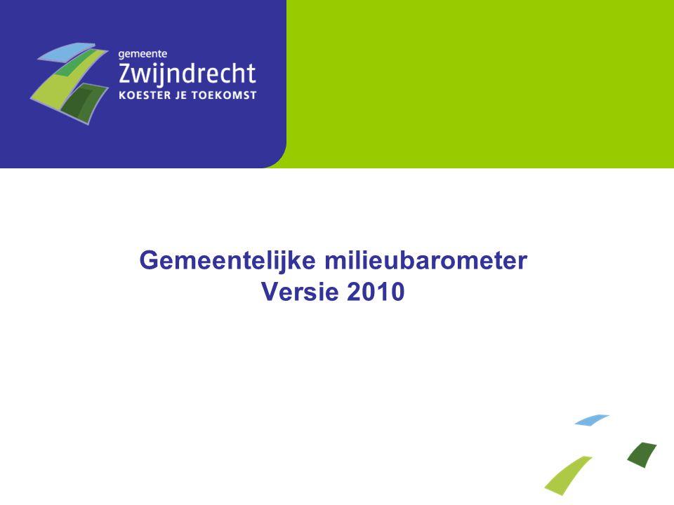 Aangeboden hoeveelheid huishoudelijk afval (kg/inwoner/jaar) Gemeentelijke milieubarometer Versie 2010 2.