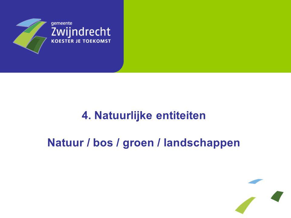 4. Natuurlijke entiteiten Natuur / bos / groen / landschappen