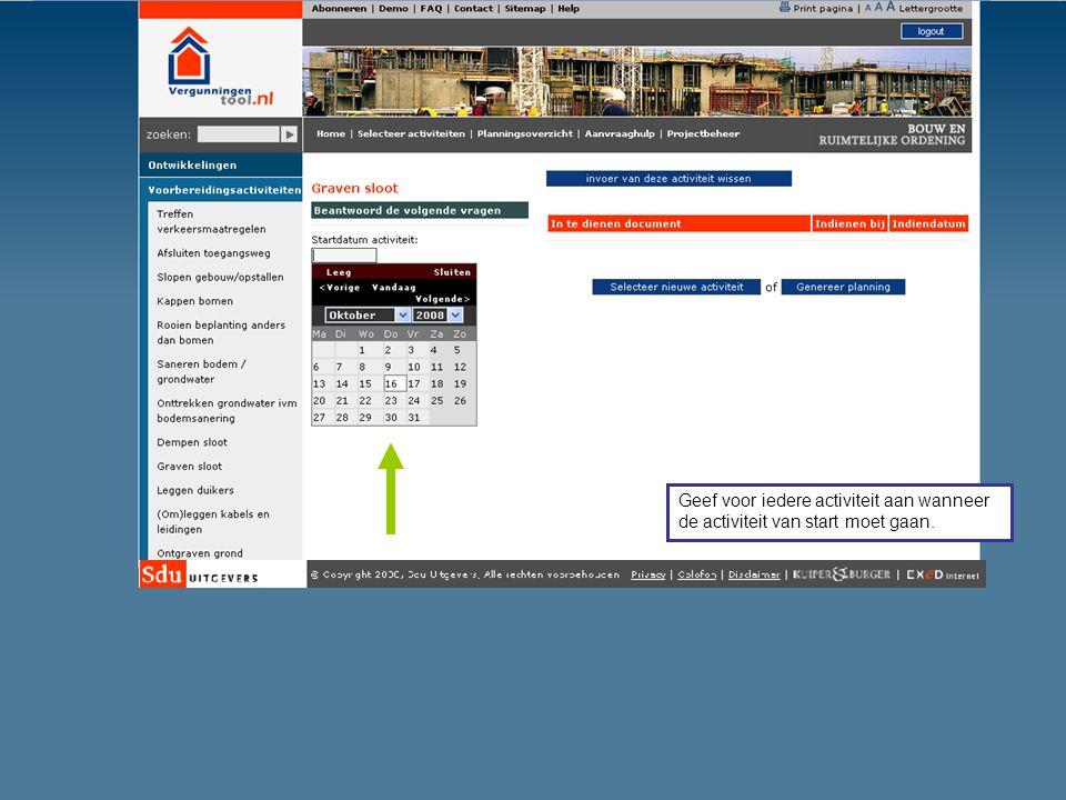 Wilt u gebruik maken van de Planningstool Omgevingsvergunningen.