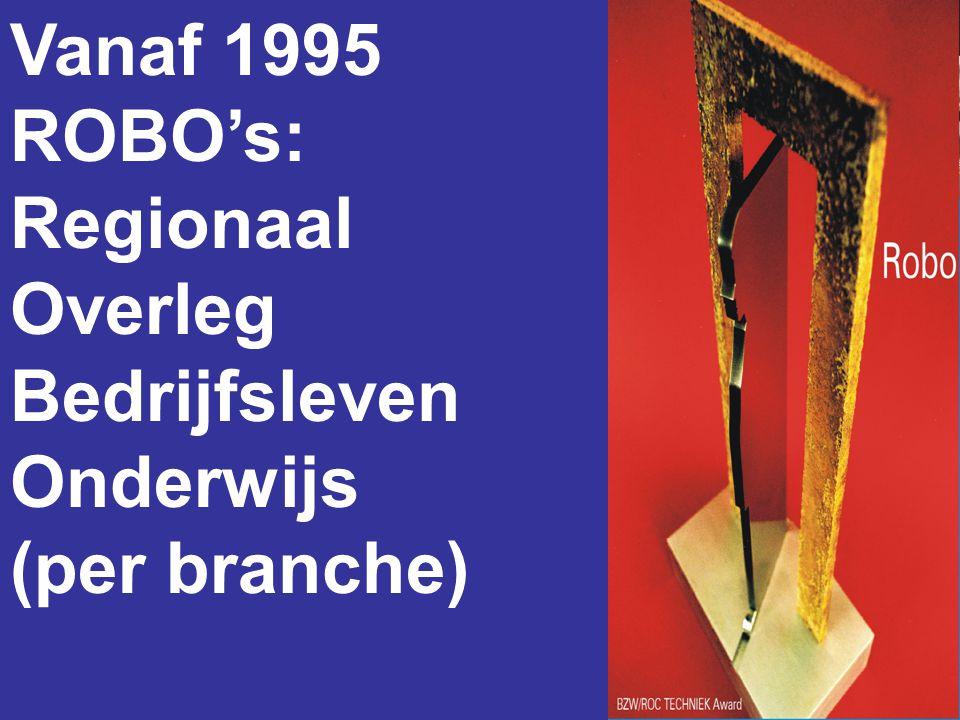 Vanaf 1995 ROBO's: Regionaal Overleg Bedrijfsleven Onderwijs (per branche)