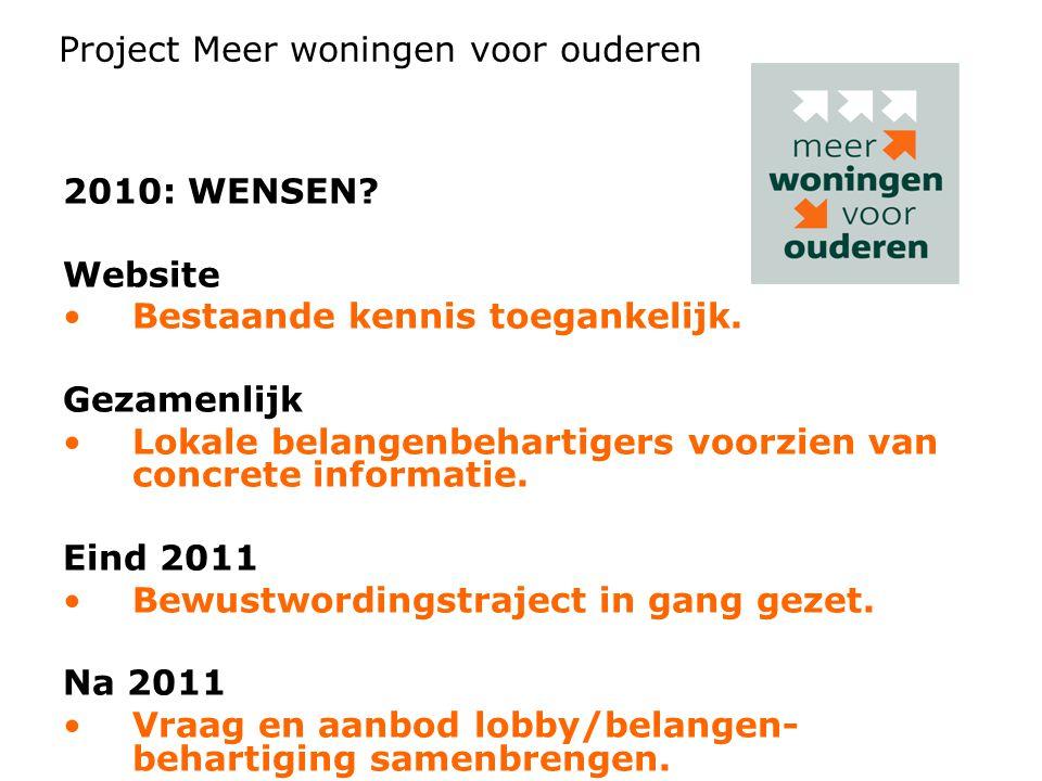 2010: WENSEN. Website •Bestaande kennis toegankelijk.