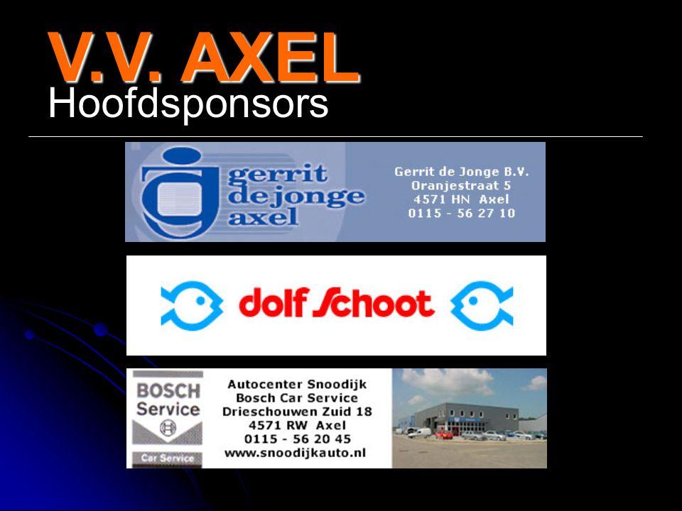 V.V. AXEL Hoofdsponsors